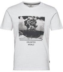 6204619, t-shirt - sdlerado ss t-shirts short-sleeved vit solid