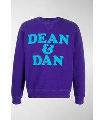 dsquared2 dean & dan print sweatshirt