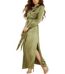 guess liliana silk maxi dress