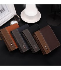 new designer mens faux leather bifold money card holder short wallet coin purse