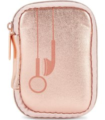 mytagalongs metallic earbud case - rose gold