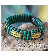 men's wristband bracelet, 'essence of africa' (ghana)