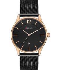 curren orologi da polso da uomo di marca in acciaio inossidabile ultra sottile orologi da polso da uomo d'affari in quarzo
