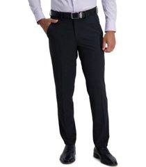 haggar men's active series extended tab slim fit dress pant