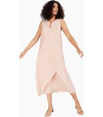 alfani pleated midi dress, created for macy's