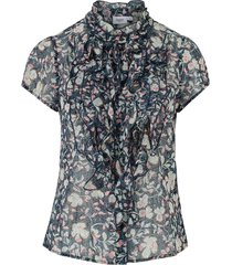 volangblus puka ss ruffle blouse