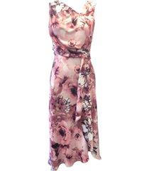 taylor floral-print draped midi dress