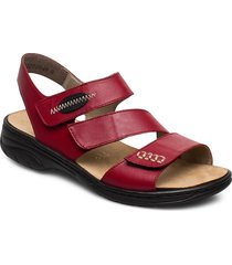 64573-00 shoes summer shoes flat sandals röd rieker