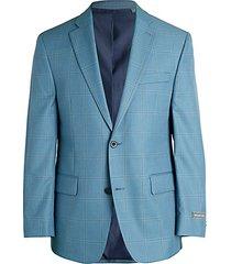 classic-fit windowpane check jacket