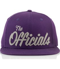 gorra violeta official the officials purp