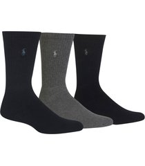 men's polo ralph lauren 3-pack crew socks, size one size - none