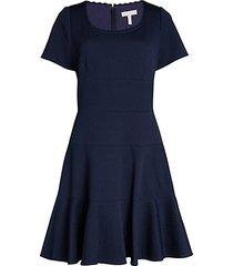 chevron flare dress