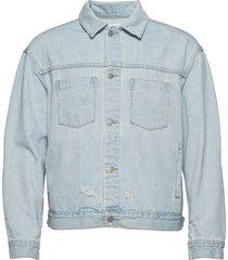 ripped denim jacket jeansjacka denimjacka blå wesc