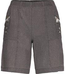 sc-akila chambrey shorts flowy shorts/casual shorts grå soyaconcept