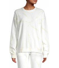 allison new york women's tie-dyed sweatshirt - ivory - size m