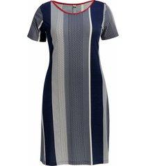 vestido pau a pique estampado m/c azul marinho - azul marinho - feminino - dafiti