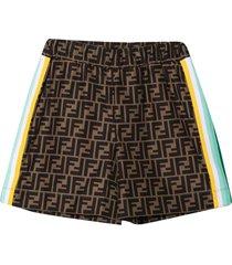 fendi logo texture bermuda shorts