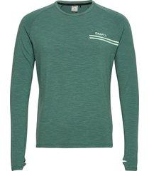 core sence ls tee m t-shirts long-sleeved grön craft