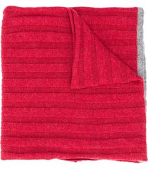 brunello cucinelli ribbed cashmere scarf - red