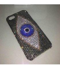 rhinestone iphone 6s iphone 7 case grey evil eyes iphone 6/7/8 iphone x case