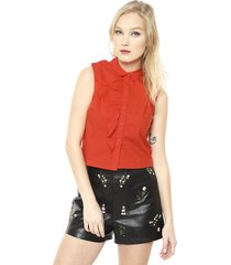 blusa amanda fabric roja only - calce regular