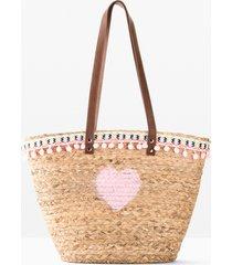 borsa shopper di paglia (beige) - bpc bonprix collection