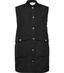 sreileen quilt vest vests padded vests zwart soft rebels