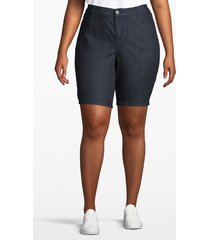 lane bryant women's venezia bermuda denim short 26 true indigo rinse wash