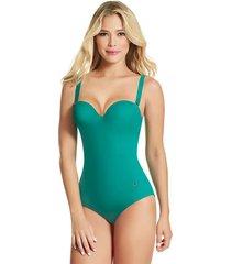 traje de baño entero haby para mujer-verde