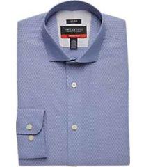 awearness kenneth cole awear-tech navy diamond slim fit dress shirt