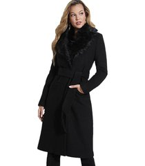 abrigo ls maria coat negro guess
