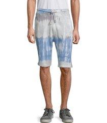 american stitch men's tie-dye bermuda shorts - blue - size l