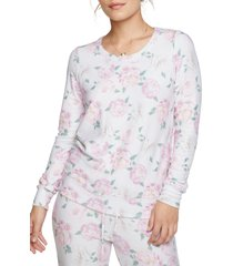 women's chaser floral party pullover, size x-large - pink