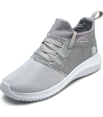 tenis gris oscuro-blanco up&go
