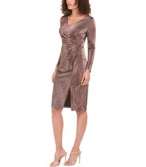 vince camuto metallic animal-print stretch dress