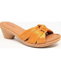 sandalia naranja usaflex