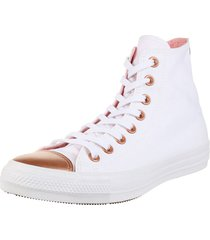 zapatilla  blanca  converse  chuck taylor all star metallic