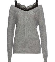 maglione traforato con pizzo (grigio) - bodyflirt