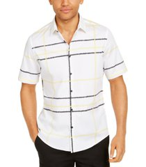 alfani men's jones plaid cotton shirt, created for macy's