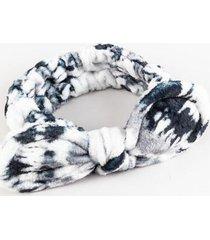 tie dye spa headband - black/white