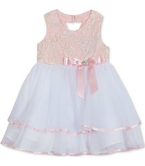 rare editions baby girls embroidered tiered dress