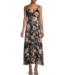 moody floral-print silk midi dress