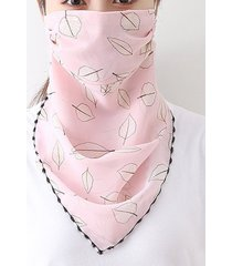 leaf printed outdoor mask scarf