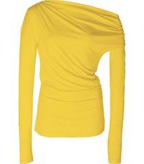 harmon draped stretch-modal top