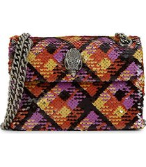 kurt geiger london women's mini kensington sequin crossbody bag - black multi