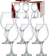 jogo de taças para vinho ruvolo one 600 ml, 6 peças