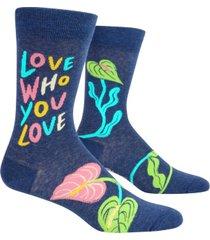 blue q men's love socks