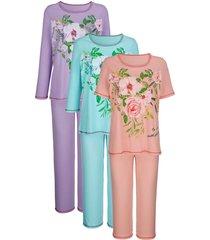 pyjama's per 3 stuks harmony mint::lila::apricot