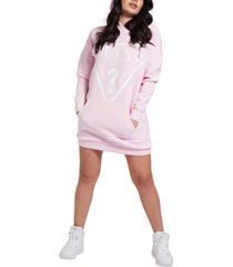 guess logo hoodie sweatshirt dress