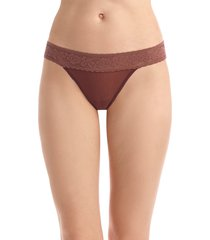 women's commando kitty soft thong, size one size - brown